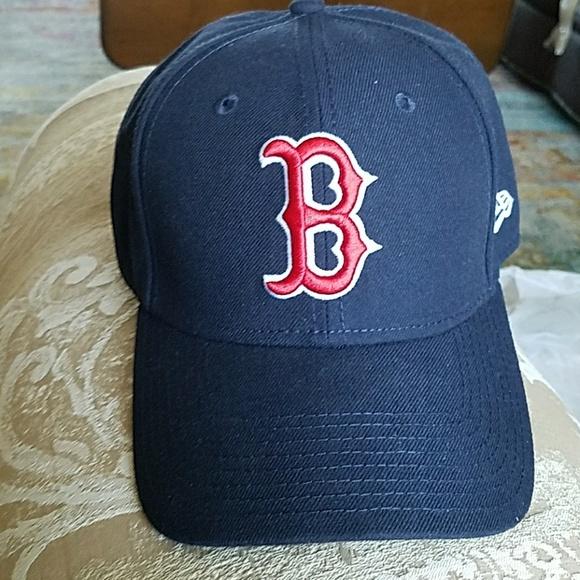 6571feb19a77f2 ... real boston red sox cap velcro adjustable 7b8e1 bc90f